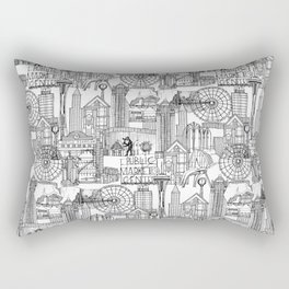 Seattle black white Rectangular Pillow