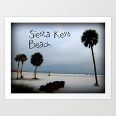 Siesta Keys Beach Art Print