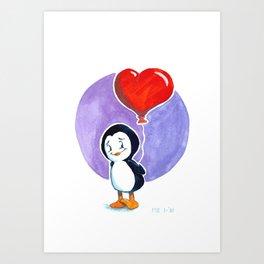 Tuxxy Valentine Art Print