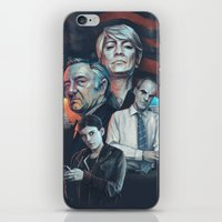 house of cards iPhone & iPod Skins featuring House of Cards by Barel Toledano