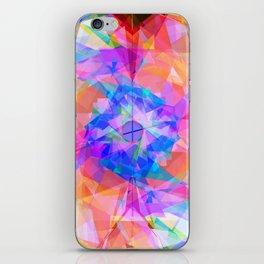 Modern bright pink lavender abstract kaleidoscope pattern iPhone Skin