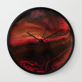 Red Planet on White Wall Clock