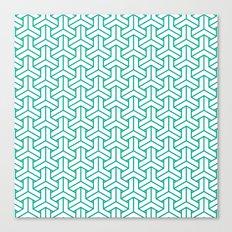 bishamon in emerald Canvas Print