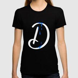 Dripping letter D T-shirt