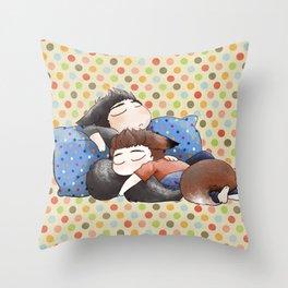 Werecuddles Throw Pillow