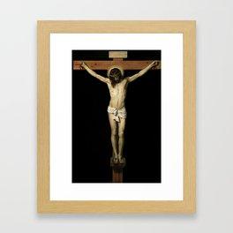 Jesus Christ on Cross Framed Art Print