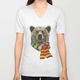 Winter Bear Unisex V-Neck