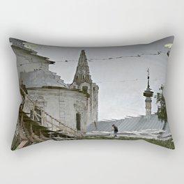 Suzdal, Russia. Church Reflection Rectangular Pillow