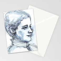 Portrait of a Girl, watercolor and ink Stationery Cards