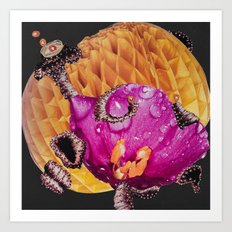Love of Riding Wild Waves of Imagination Art Print