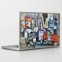 greek Laptop & iPad Skins featuring Greek Street by Teresa Pople