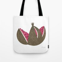 pomegranate Tote Bags featuring Pomegranate by Ryo Takemasa