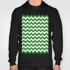 Chevron (Forest Green/White) Hoody