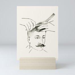 Vintage Illustration, Barber Shop Mini Art Print