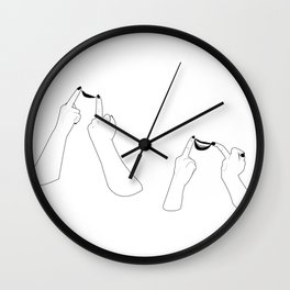 You girls are so pretty, you should smile Wall Clock