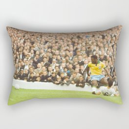 Pelé (Edson Arantes do Nascimento) : Brazil vs. Bulgaria : World Cup Soccer Football : July 12, 1966 Rectangular Pillow