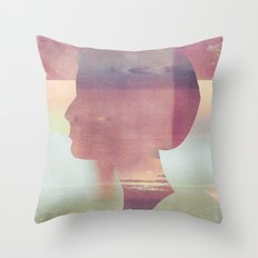 Acid Girl Throw Pillow