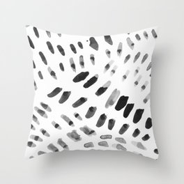 Dabs and Spots Throw Pillow