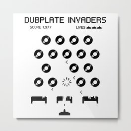 Dubplate Invaders Metal Print