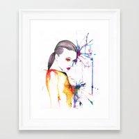 beth hoeckel Framed Art Prints featuring Beth by Amy Jane Eaton