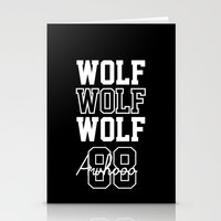 exo Stationery Cards featuring EXO  Wolf by Sara Eshak