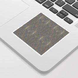 Art Deco in Gold & Grey Sticker