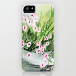 McCarthy Flowers iPhone Case