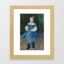 Girl with a Jump Rope (Portrait of Delphine Legrand) Framed Art Print