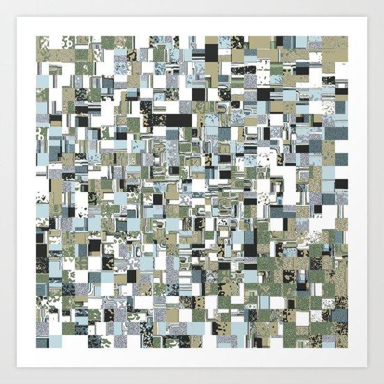Geometric Grid of Textures Art Print