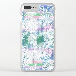 Garden in white Clear iPhone Case