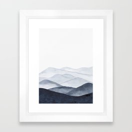 Watercolor Mountains Framed Art Print