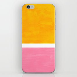 Pastel Yellow Pink Rothko Minimalist Mid Century Abstract Color Field Squares iPhone Skin
