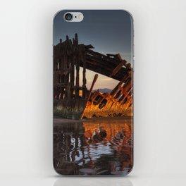 Shipwreck at Sunset iPhone Skin