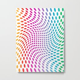 Approaching and receding shapes in CMYK - Optical game 17 Metal Print