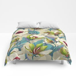 magnolia bloom - vivid version Comforters