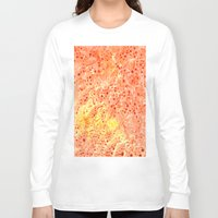 florida Long Sleeve T-shirts featuring Florida Orange by Rosie Brown