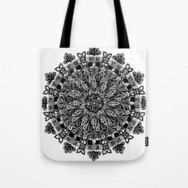 Mandala: Skeleton Leaves Tote Bag