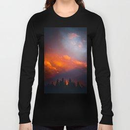 Bend Oregon: sunset & rainbow Long Sleeve T-shirt