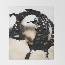 Vatican Sphere photography, Vatican Museum Italy, Abstract bronze sculpture Throw Blanket