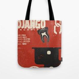 Django Unchained, Quentin Tarantino, alternative movie poster, Leonardo DiCaprio, Jamie Foxx Tote Bag
