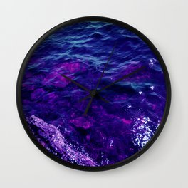 Deep Blue Waters Wall Clock