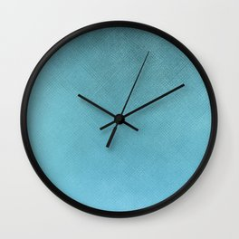 Minimalist Woven Texture in Iridescent Blue 18 Wall Clock