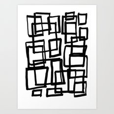 all boxed up Art Print