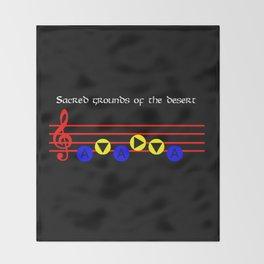Sacred Grounds Of The Desert - Requiem Of Spirit (The Legend Of Zelda: Ocarina Of Time) Throw Blanket