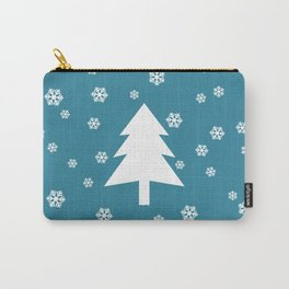 Snowy - teal - more colors Carry-All Pouch