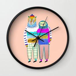 Cute Couple. Wall Clock