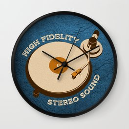 Hi-Fi Blue Wall Clock