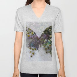 Beautiful floral butterfly Unisex V-Neck