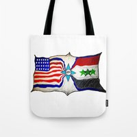 flag Tote Bags featuring Flag by ℳajd