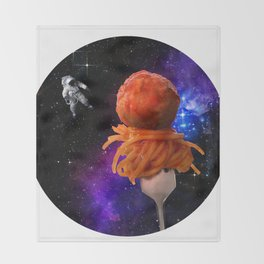 Space Spaghetti IRL Throw Blanket